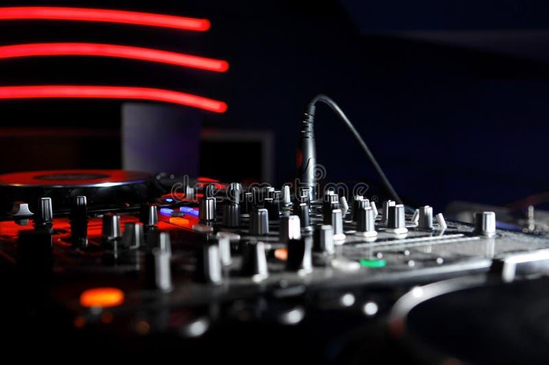dj-musikpanel royaltyfria foton