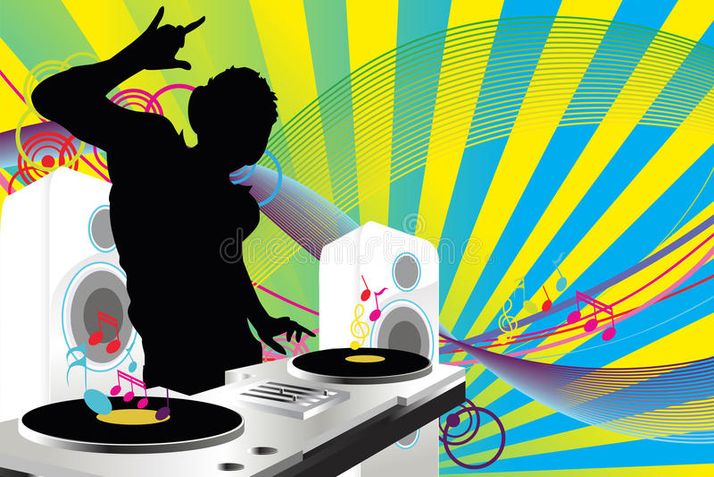 dj muzyka ilustracja wektor
