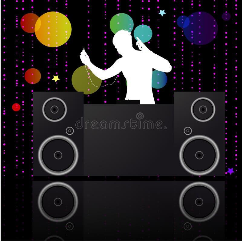 dj muzyki plakat ilustracja wektor