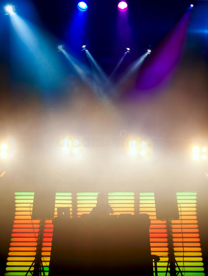 DJ at a nightclub on the scene stock images