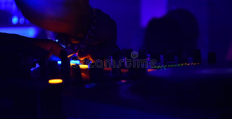 Dj in the nigth royalty free stock images