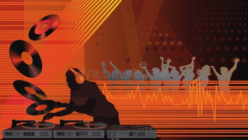 DJ op de Algemene Vergadering royalty-vrije illustratie