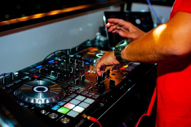 DJ op ver Handen, muziek royalty-vrije stock foto's