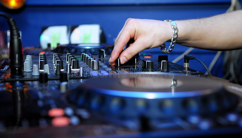 Dj Panel. The image of a vinyl DJ's deck color on color background royalty free stock images