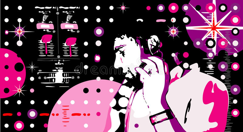 dj party stock illustrationer