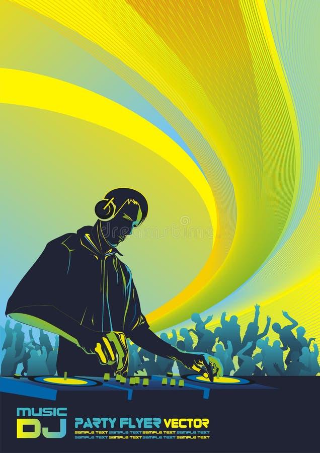 DJ Party Background vector illustration