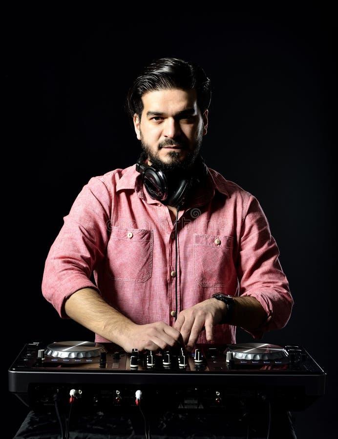 DJ Playing Music Stock Photos