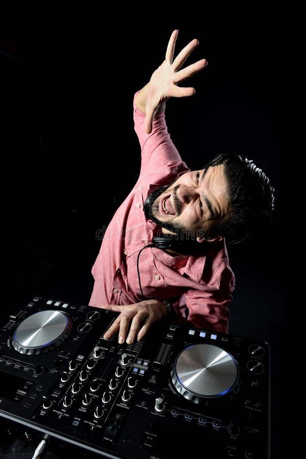 Download DJ playing music stock illustration. Image of jockey - 38718727