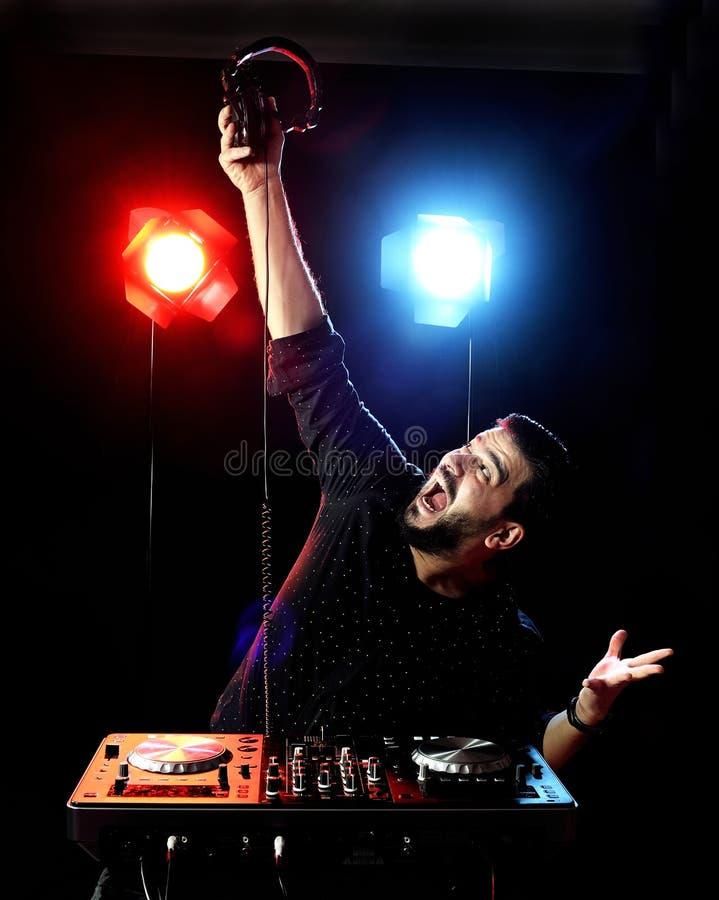 DJ Playing Music Stock Photography