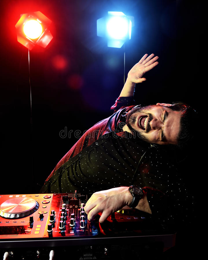 DJ Playing Music Stock Images