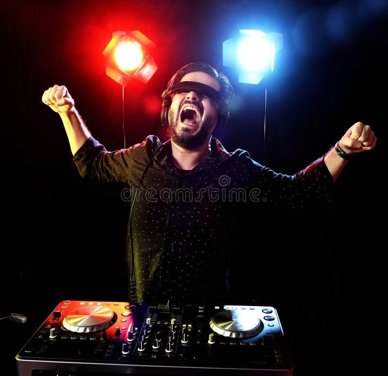 Download DJ playing music stock illustration. Image of evening - 38719483