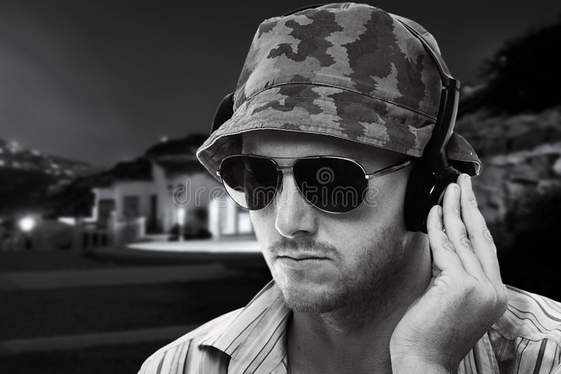 Download DJ playing outside stock image. Image of sunglasses, music - 5864831