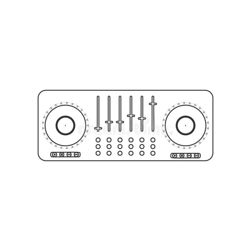 DJ pociesza ikonę Element zoo dla mobilnego pojęcia i sieci apps ikony Kontur, cienka kreskowa ikona dla strona internetowa proje ilustracja wektor