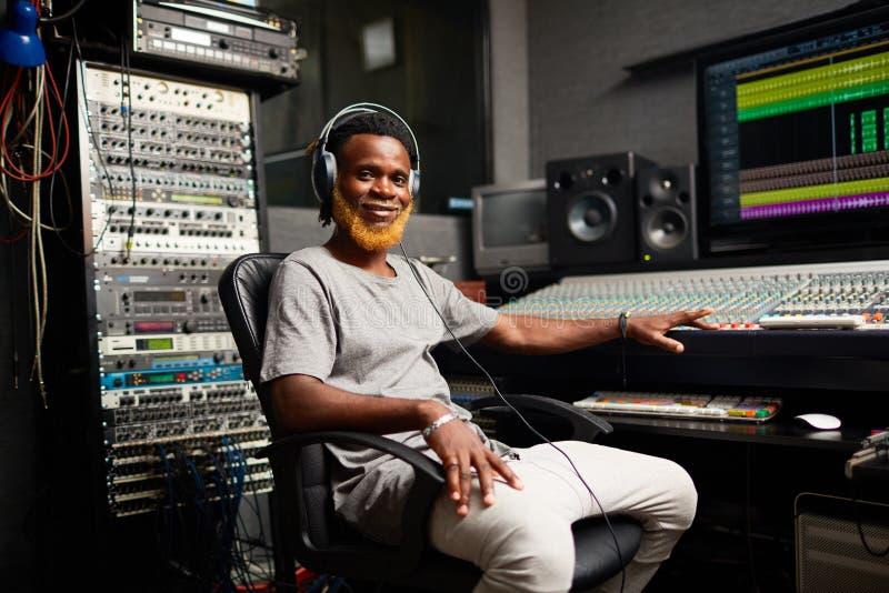 DJ przy pracą obraz stock