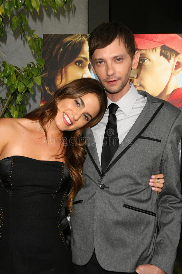DJ Qualls, Nikki Reed fotografia de stock royalty free