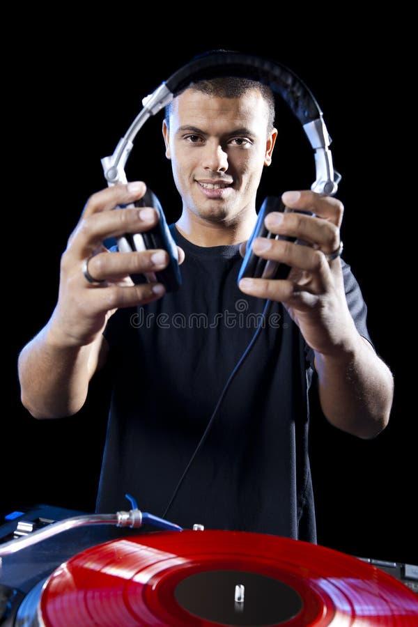 DJ que juega música imágenes de archivo libres de regalías
