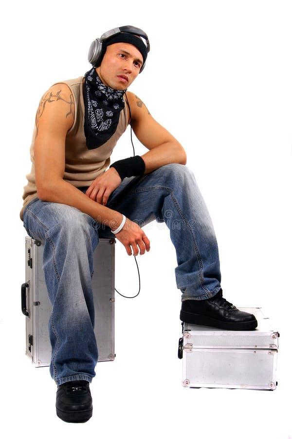 DJ que relaxa imagem de stock royalty free