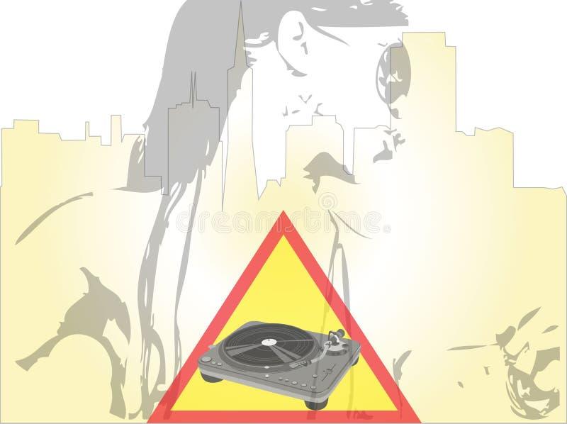 dj różny świat royalty ilustracja