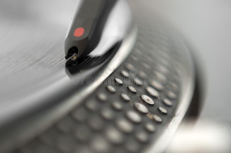 dj registrerad turntable arkivfoto