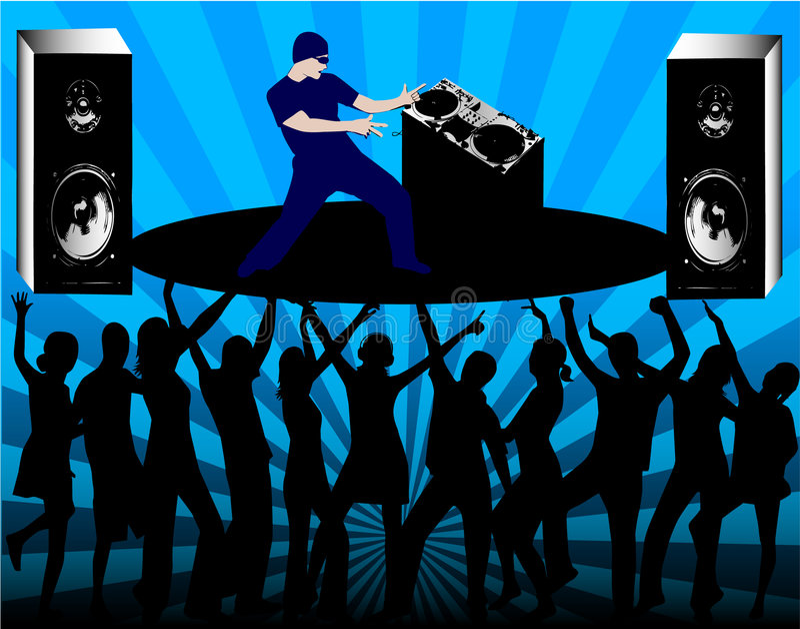 DJ Rules royalty free illustration