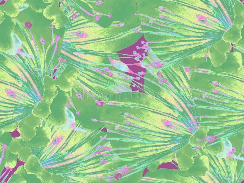 Dj?rv blom- modell royaltyfri illustrationer