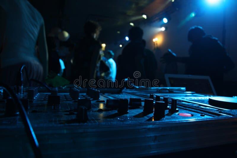 DJ's mixer royalty free stock photography