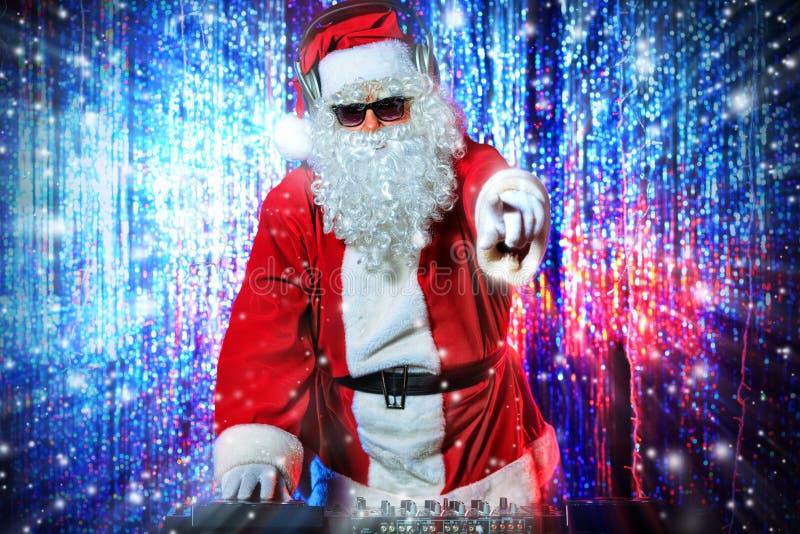 DJ Santa imagens de stock