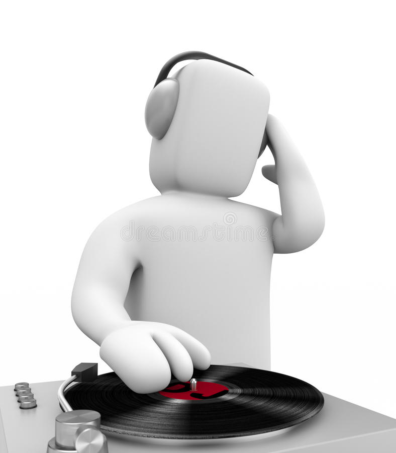 DJ Scratched Stock Image