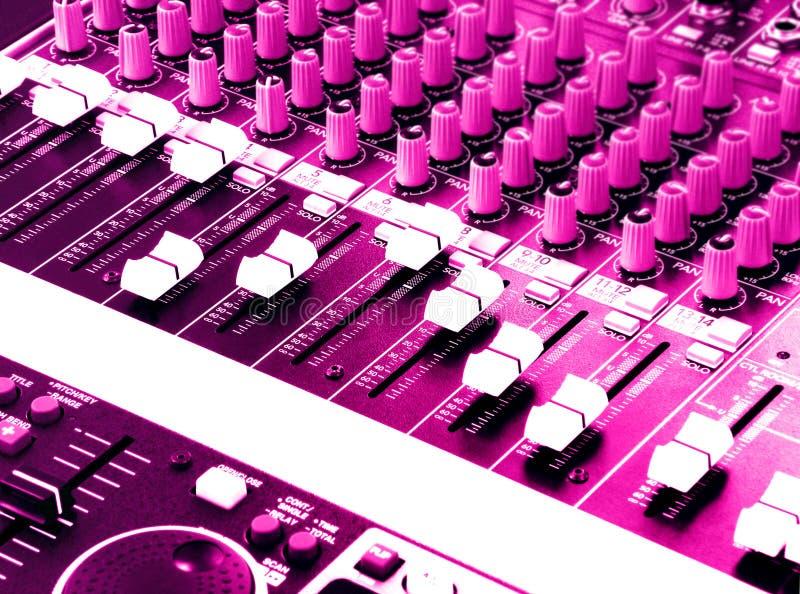 Download DJ Sound And Music Mixer Panel Stock Photo - Image: 7098680