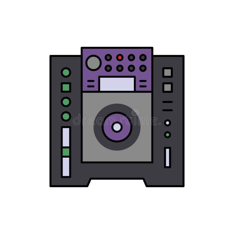 DJ, speler, audiopictogram Element van het pictogram van het de studiomateriaal van de kleurenmuziek Grafisch het ontwerppictogra stock illustratie