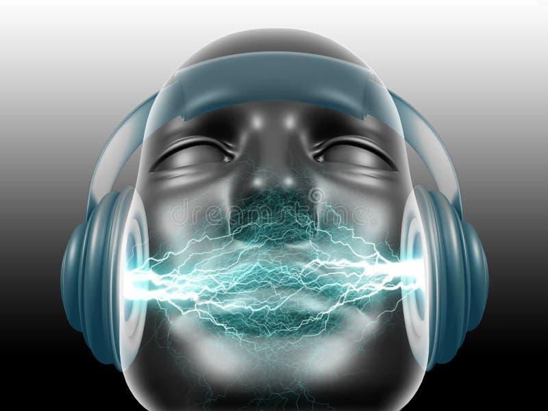 DJ suena stock de ilustración