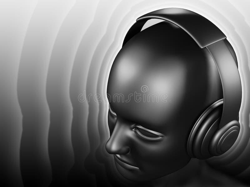 DJ suena ilustración del vector
