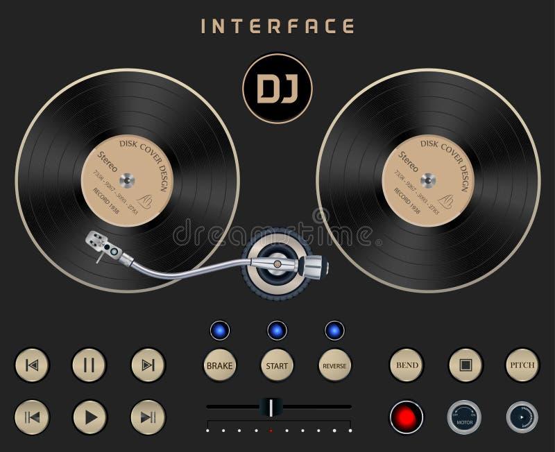 DJ szablonu Turntable royalty ilustracja