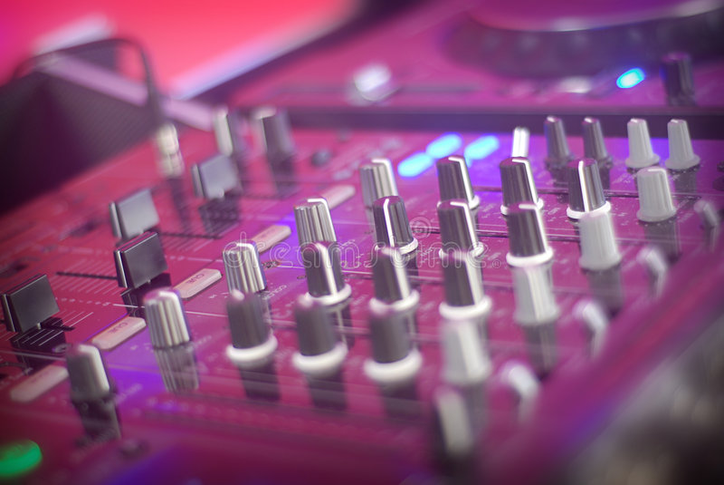 DJ Table detail stock image