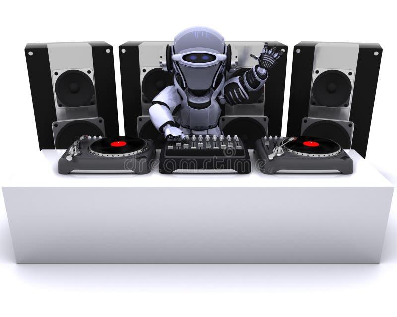 dj target3245_0_ rejestrów robota turntables royalty ilustracja