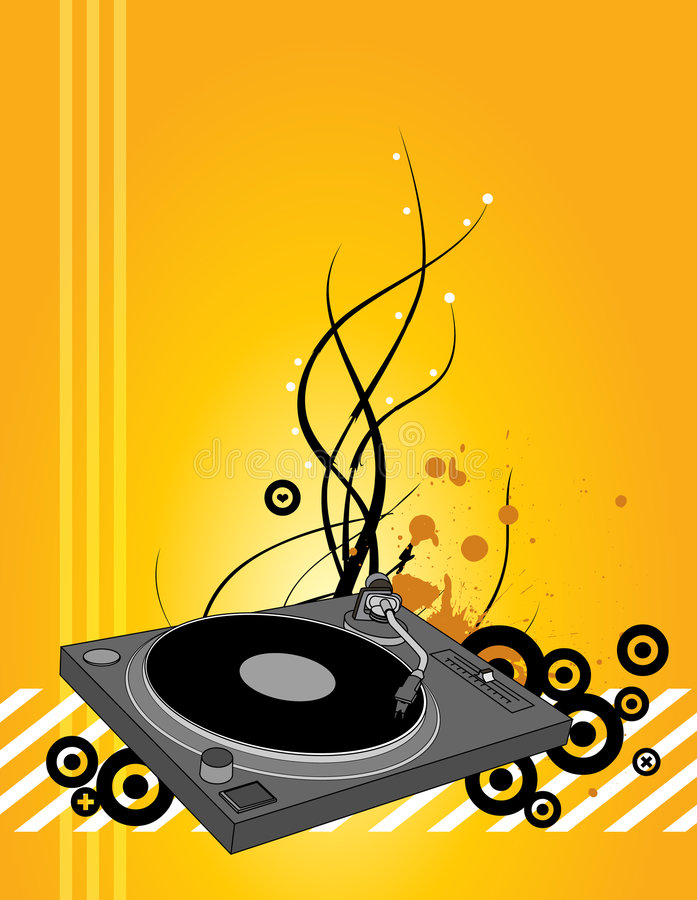 Download DJ turntable stock illustration. Illustration of song - 2865986