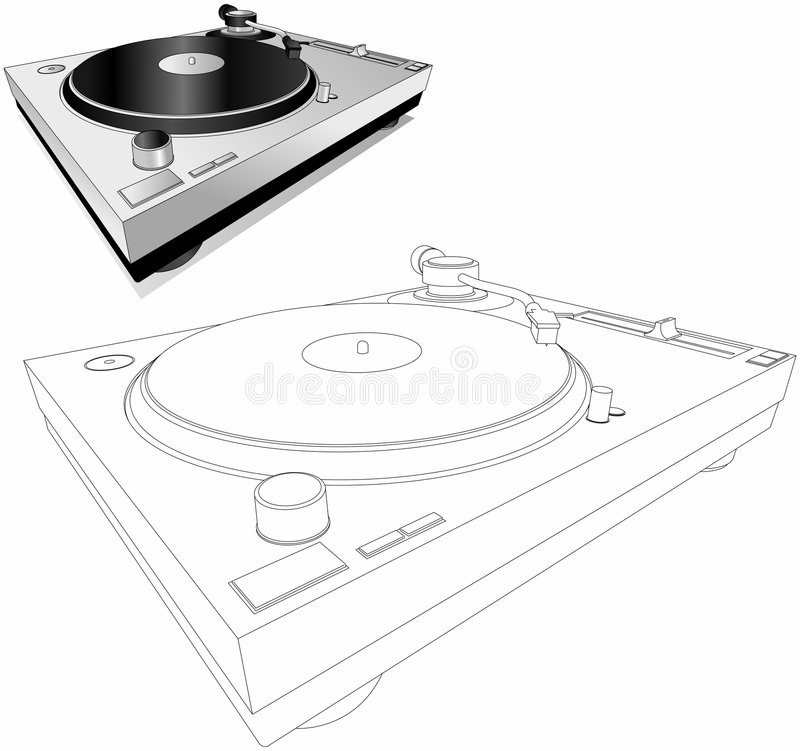 Download Dj Turntable stock illustration. Illustration of deck, turntables - 461350