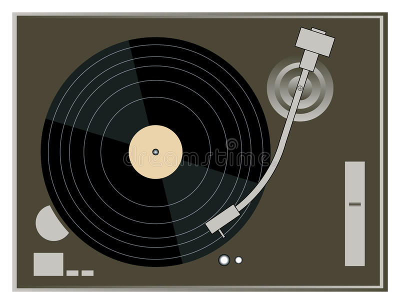 Download DJ Turntable Graphics stock vector. Image of playing - 15310602