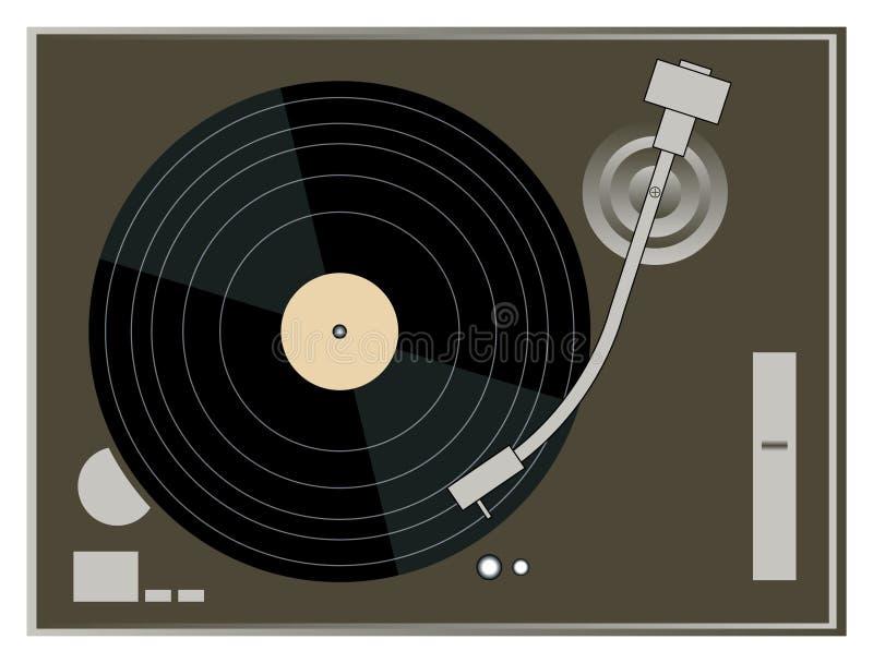 DJ Turntable Graphics royalty free illustration