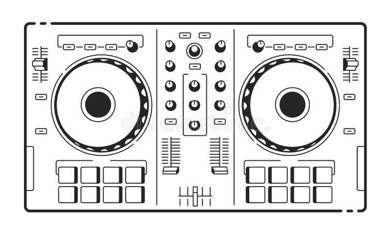DJ Usb kontroler royalty ilustracja