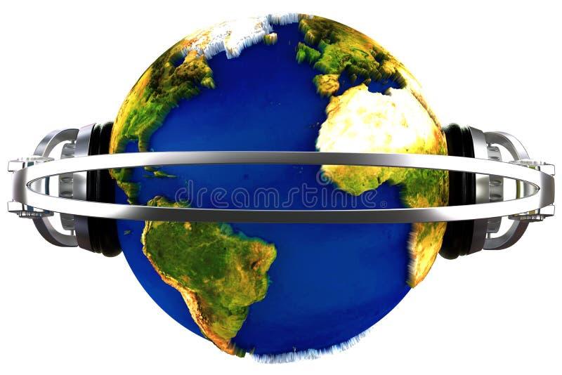 dj-värld vektor illustrationer