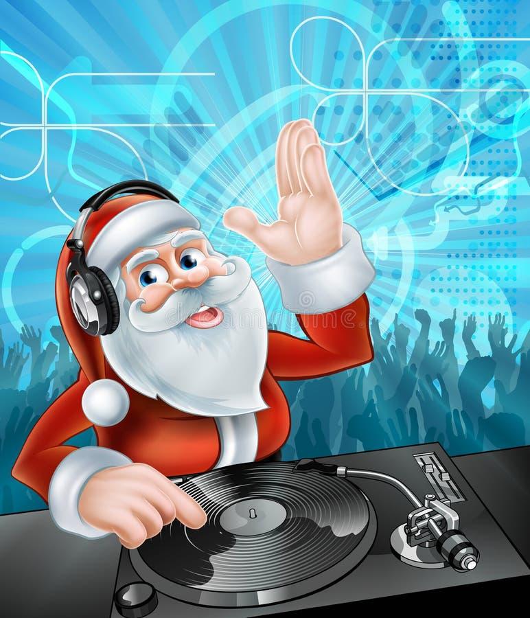 DJ Weihnachtsmann lizenzfreie abbildung