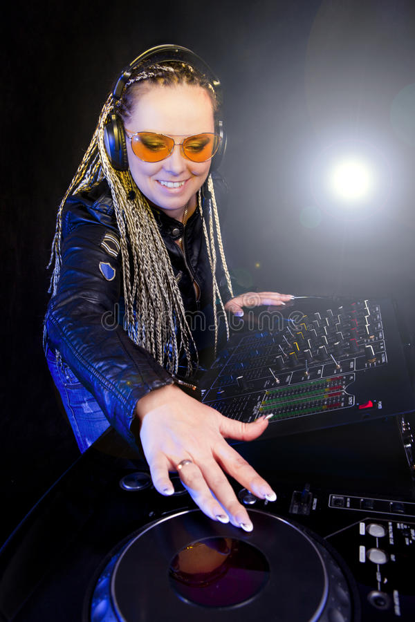 Download Dj Woman Playing Music By Mikser Stock Photo - Image: 17248014