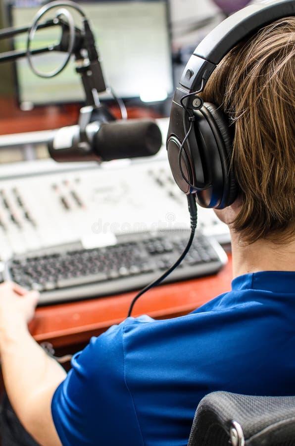 Download Dj working stock photo. Image of communication, earphones - 25165210
