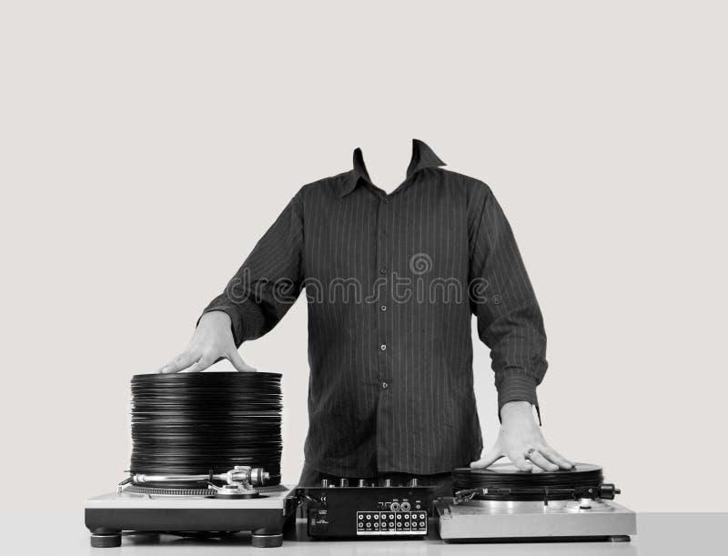 DJ zonder hoofd royalty-vrije stock afbeelding