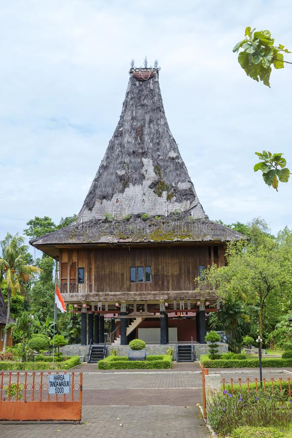 Djakarta, Indonesië, Taman Mini Park - 'mooi Indonesië in miniatuur ' Museum Timor Timur royalty-vrije stock foto's