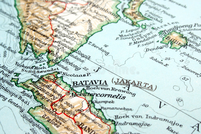 Djakarta, Indonesië stock afbeelding
