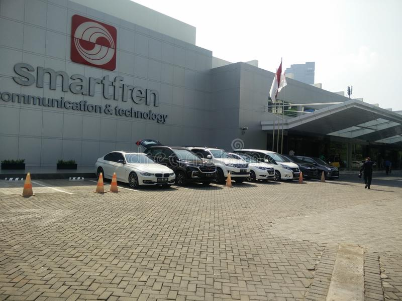 Djakarta/Indonesië 15 juli 2019 smartfren hoofdkantoor, sabang Djakarta royalty-vrije stock fotografie