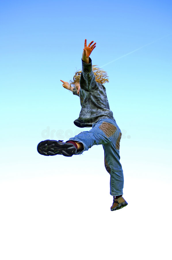 Djavo jumps. royalty free stock image
