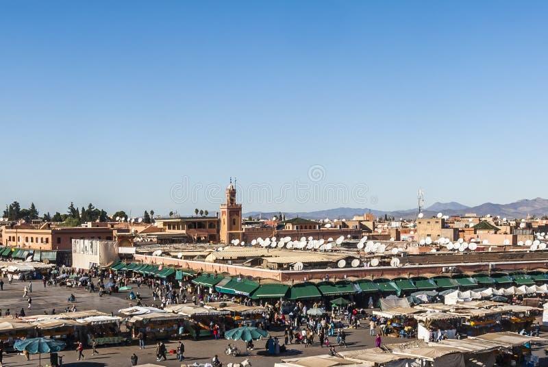Djemaa el Fna kwadrat w Marrakech zdjęcie stock